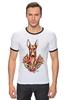 "Футболка ""Рингер"" (Мужская) ""фараон тч"" - dog, собака, олдскул, розы, фараон, roses, дог, tm kiseleva, фараонова собака"
