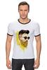 "Футболка Рингер ""Банановый бородач"" - хипстер, борода, banana, beard, hipster, банан"