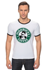 "Футболка Рингер ""Shanbucks Coffee"" - кофе, coffee, 30stm, starbucks, эшелон, старбакс, shannon leto, shanbucks"
