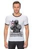 """Футболка """"Рингер"""" (Мужская) """"Вежливость города берет!"""" - крым, вежливые люди, патриотическкие футболки"""