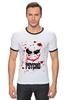 """Футболка Рингер """"Джокер (Psycho)"""" - joker, кровь, batman, джокер, псих"""