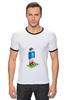 "Футболка Рингер ""Иг_рай!"" - футбол, арт, круто, 1, игра, спорт, стиль, ретро, pixel, искусство"