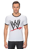 "Футболка ""Рингер"" (Мужская) ""WrestleMania"" - wwe, wrestling, wwf, рестлинг, wrestlemania"