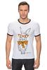 """Футболка Рингер """"Кролик"""" - арт, кролик, rabbit"""