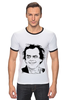 "Футболка ""Рингер"" (Мужская) ""Jack Nicholson"" - актер, джек николсон, jack nicholson"