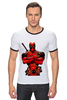 "Футболка ""Рингер"" (Мужская) ""Deadpool "" - deadpool, дедпул"