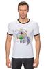 """Футболка Рингер """"Праздничный муравьед"""" - цветы, животные, 8 марта, маме, муравьед"""