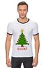 "Футболка Рингер ""Подарки Bag"" - арт, идея, happy new year, новый год, рисунок, подарки, ёлка, presents, упаковка, 2015"