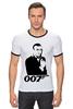"Футболка ""Рингер"" (Мужская) ""James Bond"" - james bond, агент 007, шон коннери, джеймс бонд, sean connery"