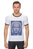 """Футболка """"Рингер"""" (Мужская) """"The Icon"""" - арт, портрет, russia, мозаика, путин, президент, putin, president, икона, the icon"""