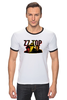 "Футболка Рингер ""ZZ TOP"" - крутые, old, blues, zztop, zz, sharp dressed man, ззтоп, старики, мощные"