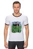 """Футболка """"Рингер"""" (Мужская) """"Популярная панк-группа """"Green Day"""""""" - музыка, группа, green, панк, green day, панк-рок, зеленый день, green day общая"""