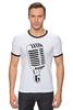 "Футболка Рингер ""Микрофон"" - музыка, микрофон, хип хоп, реп, джаз, mic"