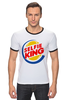 "Футболка Рингер ""Король Селфи (Selfie King)"" - пародия, foto, селфи, selfie, burger king"
