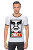 "Футболка Рингер ""obey."" - obey, street art, contemporary"