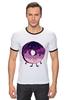 """Футболка Рингер """"Космический Пончик (Space Donut)"""" - пончик, donut, космический пончик, space donut"""
