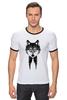 "Футболка Рингер ""Мистер Волк"" - животные, волк, wolf"