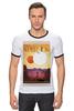"""Футболка Рингер """"Космический туризм"""" - звезды, планета, космос, научная фантастика, постер"""