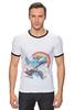 "Футболка ""Рингер"" (Мужская) ""Rainbow Dash"" - pony, mlp, rainbow, dash"