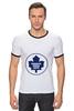 "Футболка ""Рингер"" (Мужская) ""Торонто Мэйпл Лифс "" - хоккей, nhl, нхл, toronto maple leafs, торонто мэйпл лифс"