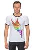 """Футболка """"Рингер"""" (Мужская) """"Mozart L`opera Rock """" - арт, авторские майки, wings, рисунок, color"""