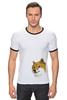 """Футболка """"Рингер"""" (Мужская) """"Doge WOW!"""" - интернет, мем, wow, doge, собакен"""
