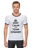 "Футболка ""Рингер"" (Мужская) ""Edward Snowden"" - америка, россия, keep calm, edward snowden, эдвард сноуден"