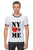 """Футболка """"Рингер"""" (Мужская) """"NY"""" - i love, ny, nyc"""