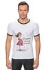 """Футболка """"Рингер"""" (Мужская) """"Скоро стану мамой!"""" - baby, беременность, mother, футболки для беременных, футболки для беременных купить, принты для беременных, pregnant, expecting"""