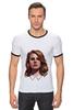 """Футболка """"Рингер"""" (Мужская) """"Lana del Rey"""" - стиль, рисунок, портрет, lana, лана дель рей"""