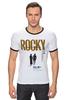"""Футболка Рингер """"Rocky / Рокки"""" - бокс, рокки, rocky, оскар, kinoart"""