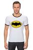 """Футболка """"Рингер"""" (Мужская) """"бэтмен"""" - batman, бэтмен, dc, dc комиксы"""