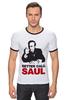 "Футболка ""Рингер"" (Мужская) ""Better call Saul"" - во все тяжкие, breaking bad, better call saul, лучше звоните солу, сол гудман"
