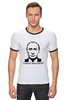 """Футболка """"Рингер"""" (Мужская) """"Самая вежливая футболка"""" - путин, putin, крым, вежливые люди, вежливый"""