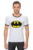 """Футболка """"Рингер"""" (Мужская) """"Бэтман"""" - batman, супергерой, бэтман"""