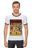 "Футболка Рингер ""ретро постер бассейн"" - арт, ретро, плакат, афиша, бассейн"