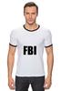 """Футболка """"Рингер"""" (Мужская) """"FBI фбр"""""""
