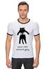 """Футболка """"Рингер"""" (Мужская) """"Черные коты приносят удачу"""" - удача, коты, черная кошка, black cat"""