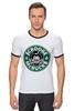 "Футболка ""Рингер"" (Мужская) ""Scrooge McBucks (Starbucks)"" - пародия, coffee, старбакс, скрудж макдак"
