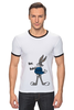 "Футболка Рингер ""Bugs Bunny_man"" - fun, nice"