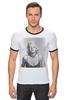"""Футболка """"Рингер"""" (Мужская) """"Marilyn Monroe  """" - ретро, ню, мэрилин монро, marilyn monroe, kinoart"""