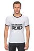 "Футболка ""Рингер"" (Мужская) ""The Walking Dead"" - zombie, зомби, ходячие мертвецы, the walking dead"