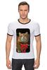 "Футболка Рингер ""Рыжий "" - кот, котэ"