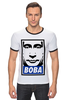 "Футболка Рингер ""Вова Путин"" - путин, putin, вова, нас не догонят, самый вежливый из людей"