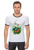 """Футболка Рингер """"Бабочка"""" - бабочка, лето, цветы, отдых, природа, путешествия, экзотика, тропики"""