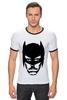 "Футболка Рингер ""Доктор Хаус в маске Бэтмена"" - house, batman, бэтмен, доктор хаус"
