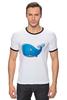 """Футболка Рингер """"Голубой морской кит-кашалот"""""""