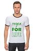 """Футболка """"Рингер"""" (Мужская) """"Vegan for life"""" - веган, vegan"""