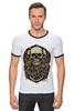 "Футболка Рингер ""skulls"" - skull, череп, черепа"