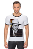 """Футболка """"Рингер"""" (Мужская) """"Аль Капоне"""" - череп, пистолет, авторские майки, ny, кости, шляпа, пуля, chicago, нью йорк, гангстер"""